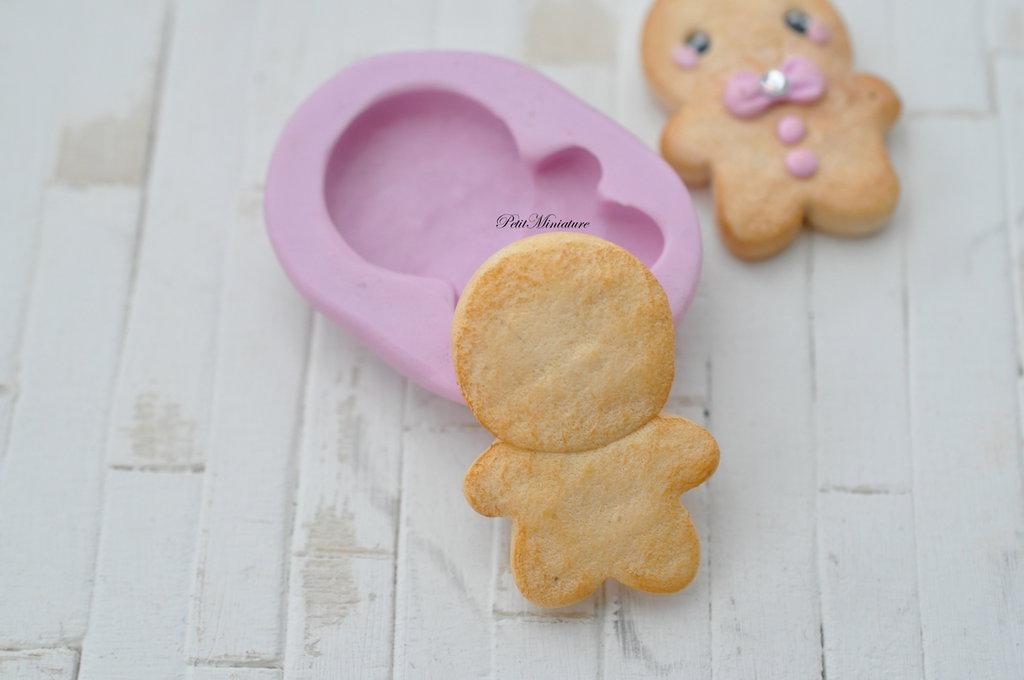 Stampo fimo gingerbread biscotto- Orecchini fimo gioielli handmade-Natale,bianco natale- Gioielli Fimo- Kawaii ST130  Fai una domanda