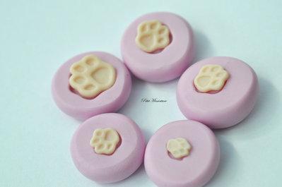 Stampo in silicone flessibile zampa di gatto-Gioielli Kawaii-Nail Art-Stampo Miniatura-Charm,Resina,Fimo.ST139