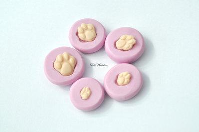 Stampo in silicone flessibile zampa di gatto-Gioielli Kawaii-Nail Art-Stampo Miniatura-Charm,Resina,Fimo.ST140
