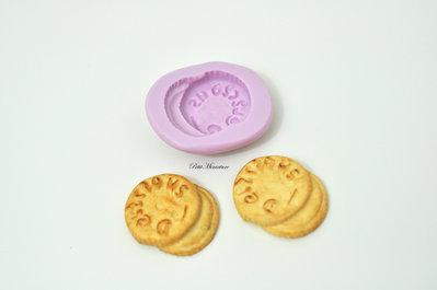 Stampo Silicone Flessibile biscotto rettangolare,Miniature cibo,gioielli,charms,biscotto,fimo,polymer clay,resina,sapone,dolce,24mm ST141