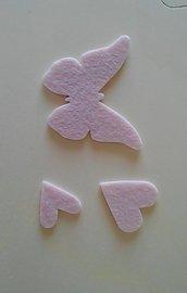 Decorazioni in feltro rosa