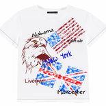 T-shirt manica corta bandiere