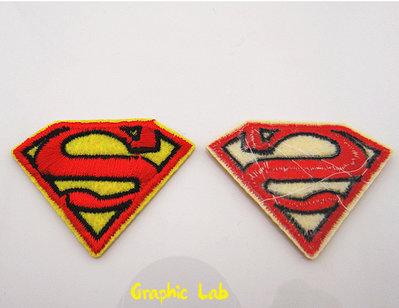 Toppa Termoadesiva Superman Supereroe DC Comics Gialla e Rossa