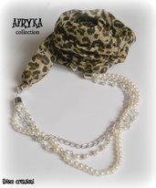 Collana foulard con stampa animalier - Collezione Afryka