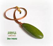 Collana con pendente in legno - Collezione Afryka