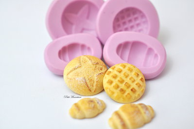 Kit stampo pane per casa delle bambole-stampo fimo-stampo gioielli-kawaii-bijoux ST145