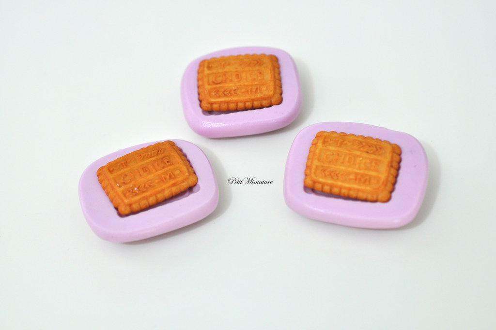 Stampo Silicone Flessibile biscotto rettangolare,Miniature cibo,gioielli,charms,biscotto,fimo,polymer clay,resina,sapone,dolce,20mm ST148