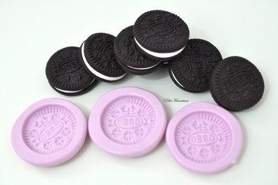 Stampo silicone flessibile oreo biscotto miniatura 2,5mm gioielli fimo kawaii ST150