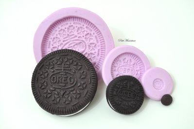 KIT Stampo silicone flessibile 3 Stampi Biscotto Oreo Grande Oreo Medio Oreo Piccolo oreo biscotto gioielli fimo kawaii ST152
