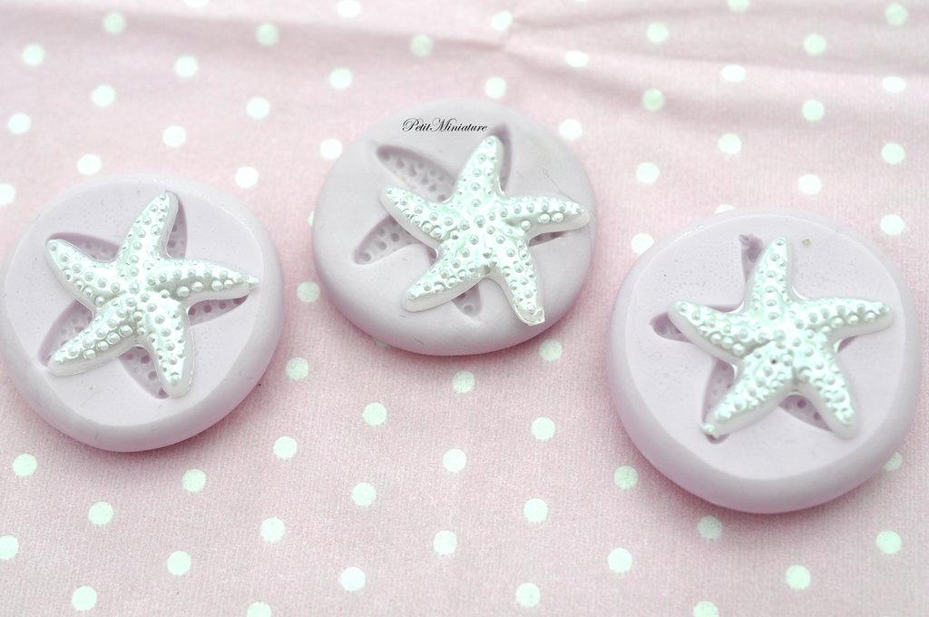 Stampo Flessibile Fimo-Stella Marina-gioielli charm cabochon kawaii cibi in miniatura-Fimo
