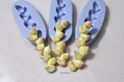 Stampo pane fimo baguette in silicone flessibile stampo dolci dollhouse fimo gioielli charms cabochon cibo in miniatura kawaii ST157