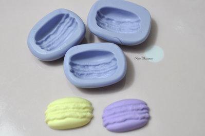 Stampo Silicone Flessibile macaron,Miniature cibo,gioielli,charms,macaron,fimo,polymer clay,resina,sapone,dolce,20mm,Parigi ST160