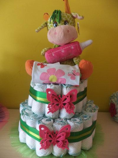 maxi torta di pannolini