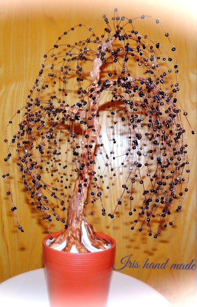 Salice piangente- bonsai di perline