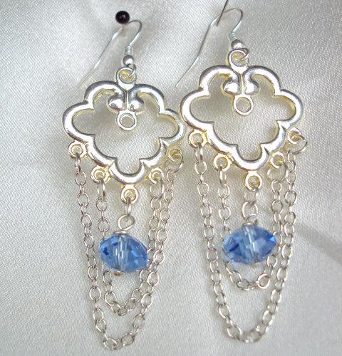 """Orecchini cristalli """"Soft blue"""""""