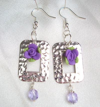 "Orecchini ""Lovely violet"""