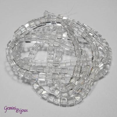 Lotto 20 cubetti in vetro 4mm crystal