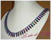 Collana con daghe multicolor