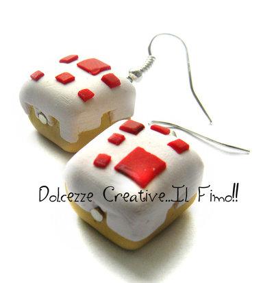 Orecchini torta pixel game - Regalo Gamer - Nerd HANDMADE