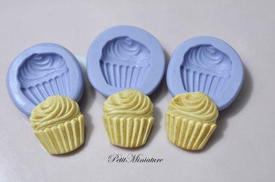 STAMPO base cupcake 1,3cm ST162 in silicone flessibile 3d macaron miniature dollhouse charm kawaii fimo gioielli sapone resina gesso