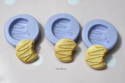 Stampo Silicone Flessibile biscotto rettangolare,Miniature cibo,gioielli,charms,biscotto,fimo,polymer clay,resina,sapone,dolce,20mm ST165