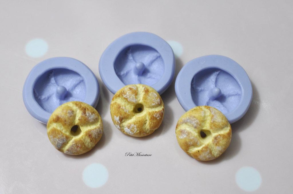 Stampo pane fimo baguette in silicone flessibile stampo dolci dollhouse fimo gioielli charms cabochon cibo in miniatura kawaii ST166