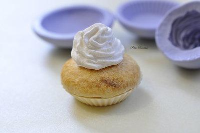 STAMPO FIMO cupcake 4 cm ST171 in silicone flessibile 3d macaron miniature dollhouse charm kawaii fimo gioielli sapone resina gesso