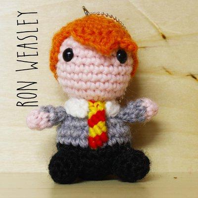 Pupazzetto amigurumi portachiavi Ron Weasley