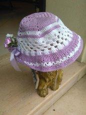 cappellino bimba cotone glicine