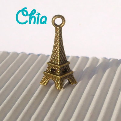 5 charms tour eiffel bronzo 21x8mm