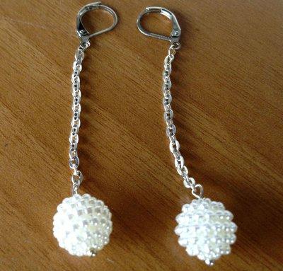 Orecchini pendenti perla