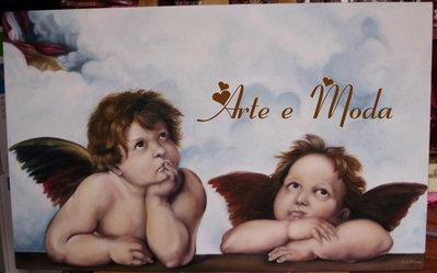 """""""Angeli""""di Raffaello Sanzio .Particolare della """"Madonna Sistina""""(copia)"""