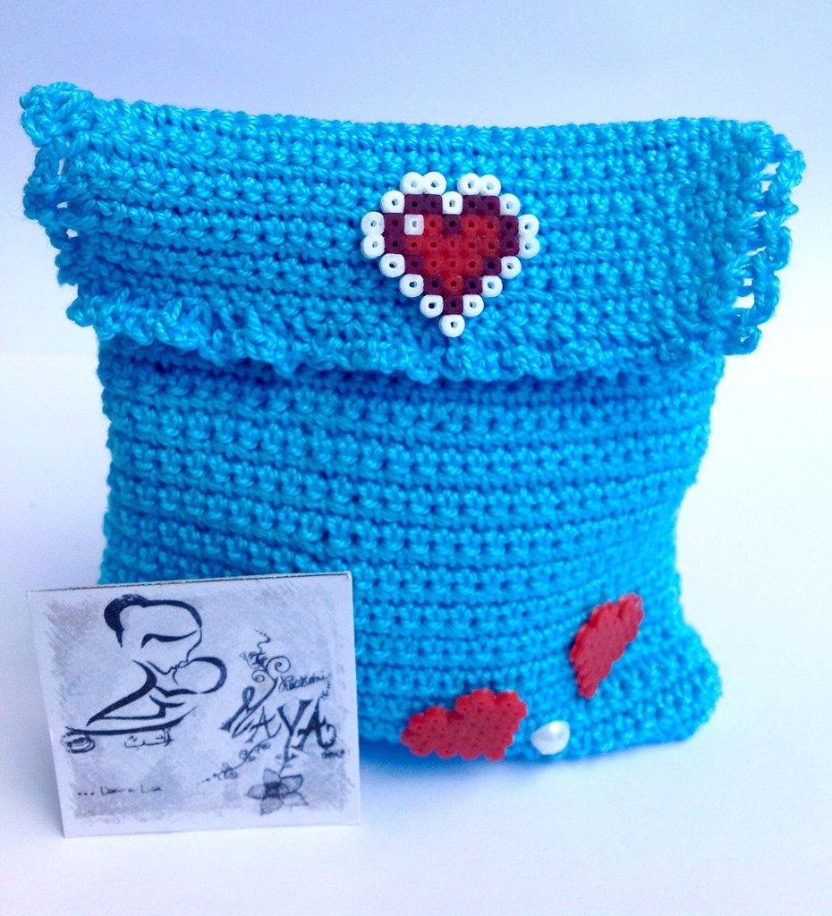 Sacchettino portagioie con inserti Hama Beads