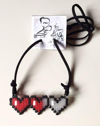 Collana cuori Hama Beads