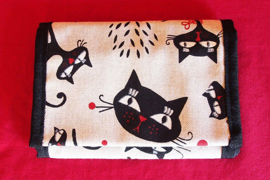 Portafoglio Artigianale ...Il gatto nero...