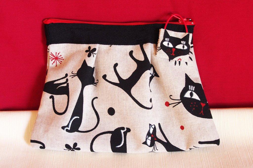 Pochette Artigianale...Il gatto nero...