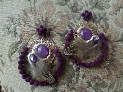 orecchini pendenti alta moda con ciniglia