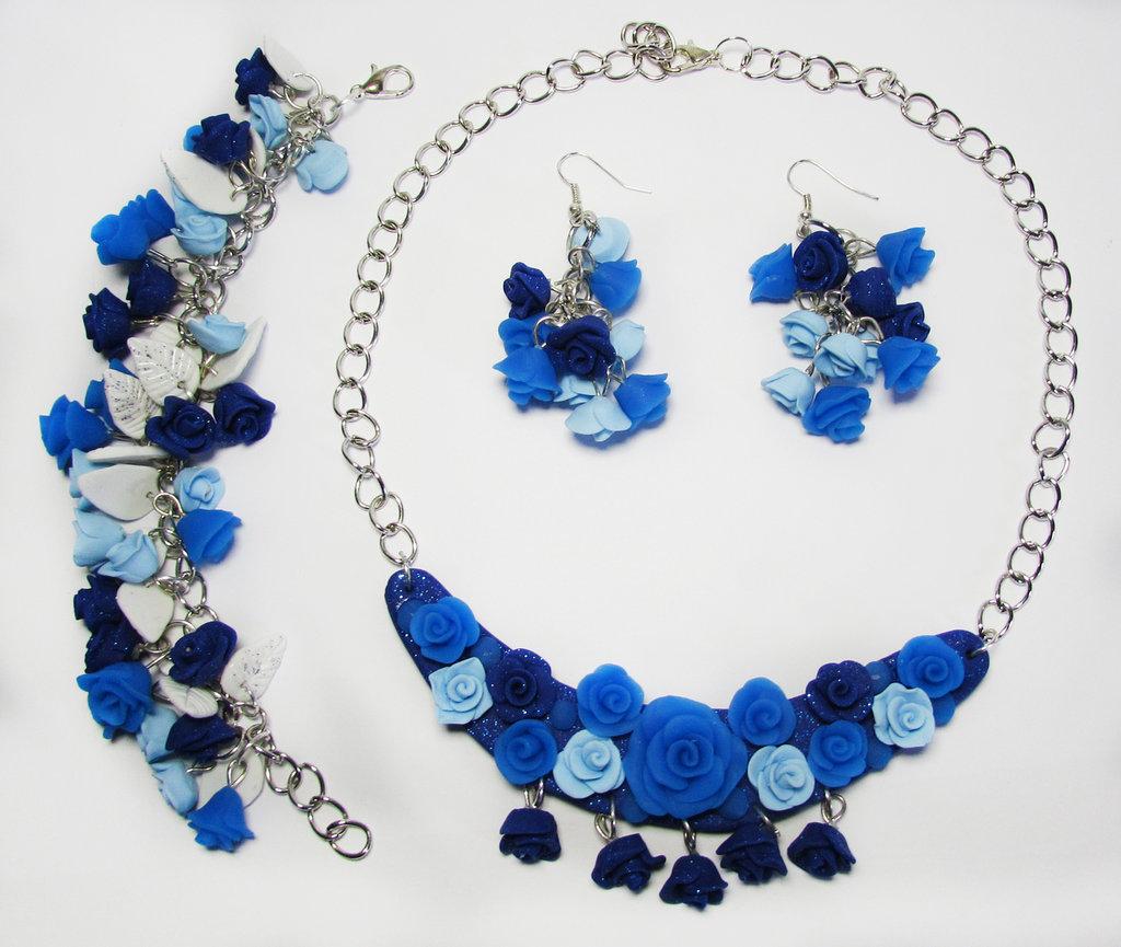 """Set di gioelli """"Bouquet di rose"""""""