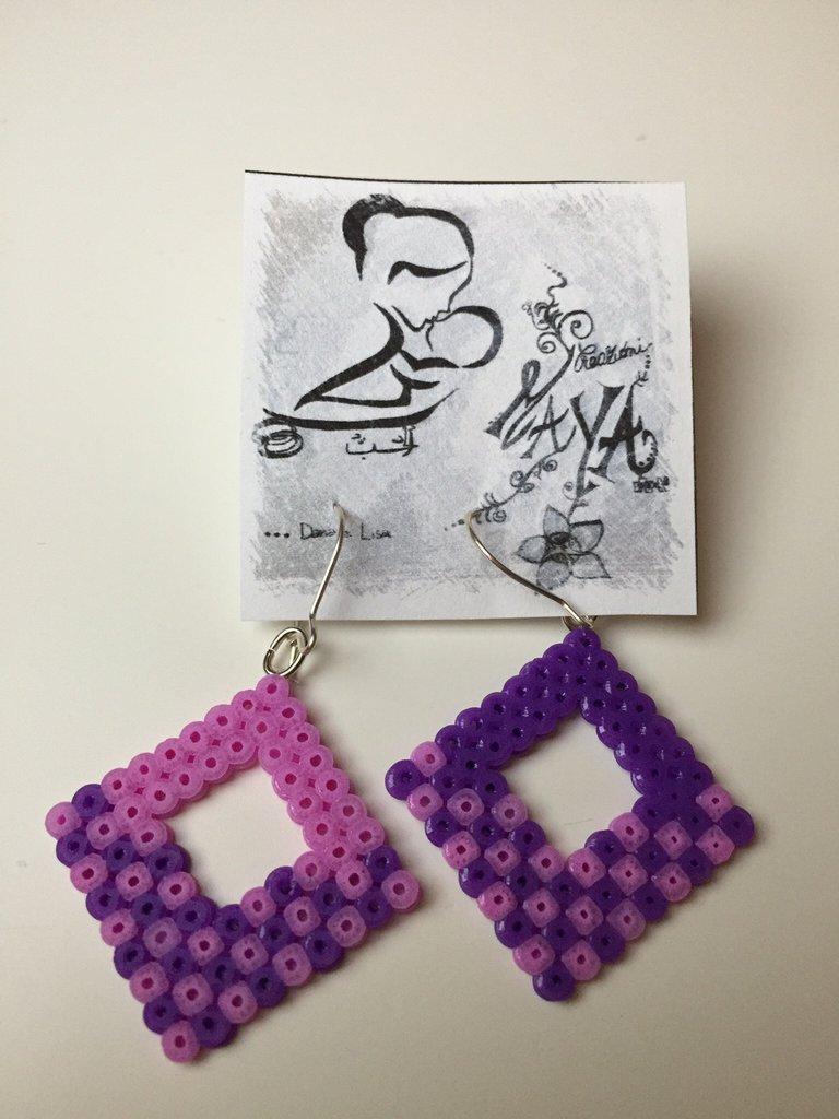 Orecchini Hama Beads