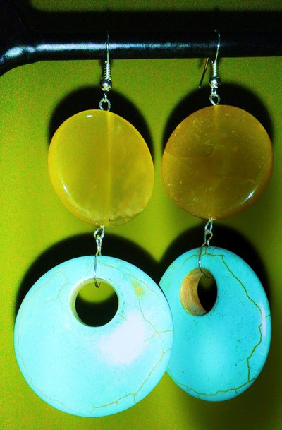 Orecchini in ambra e turchese