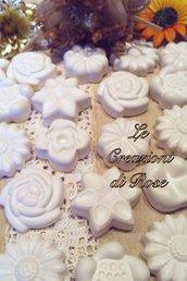 Gessi gessetti fiore segnaposto bomboniera matrimonio
