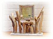 Portafoto NAVY con legni di mare