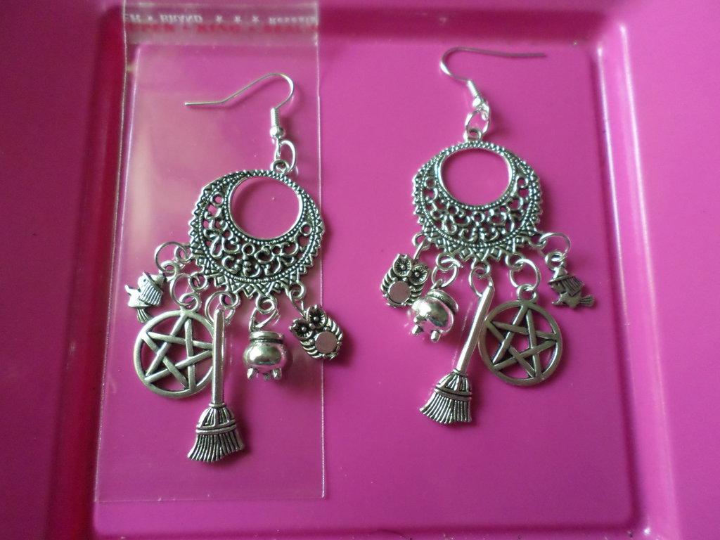 orecchini fantasia di strega