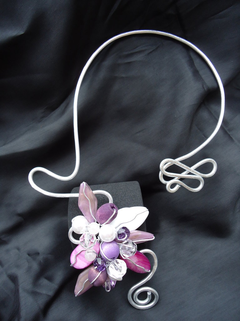 Collana Wire Lady Violet