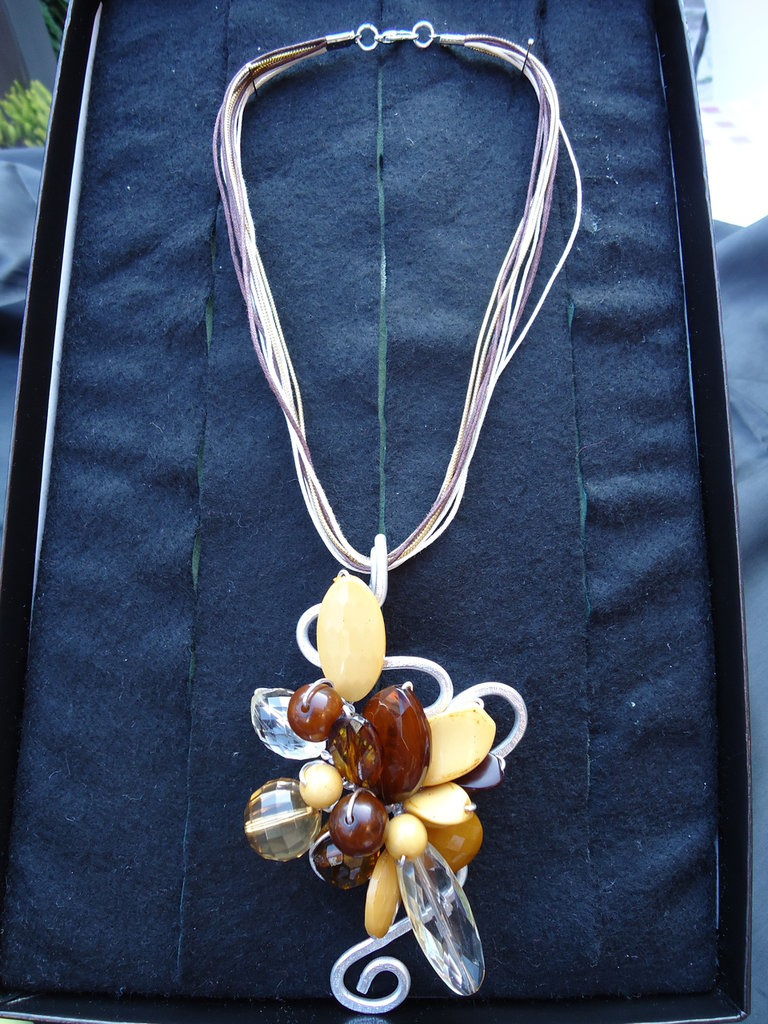 Collana Wire Lady Brown