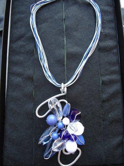 Collana Wire Lady Blue