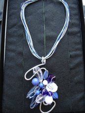 Collana Wire Lady Blue