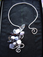 Collana Wire Lady Black and gray
