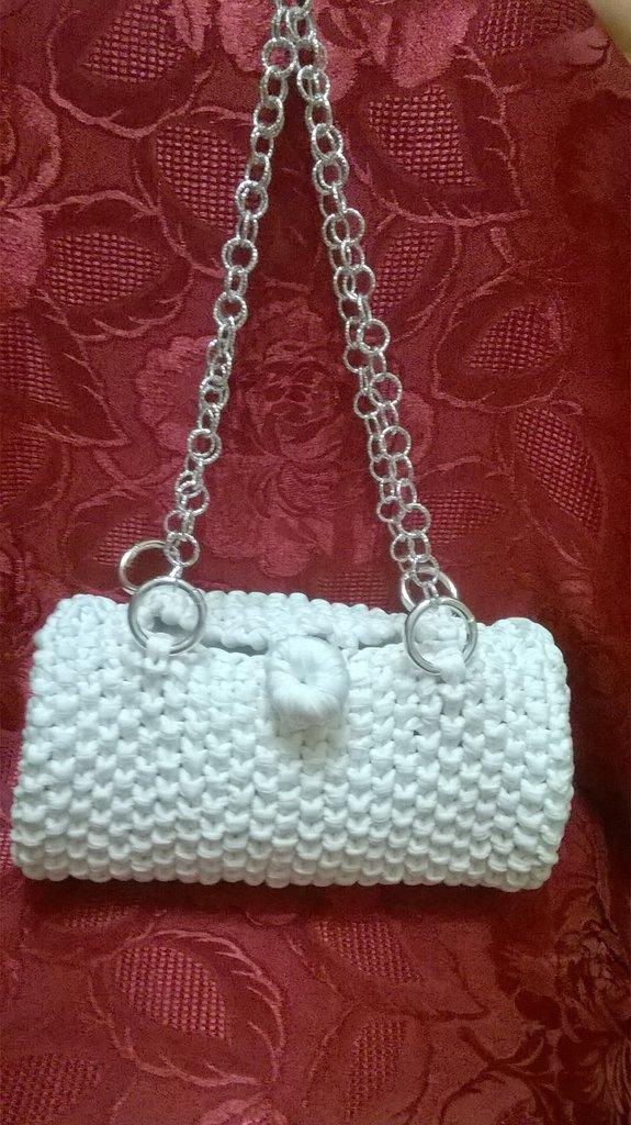 borsa bauletto bianca