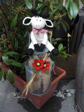 Fermaporta bidone del latte con mucca